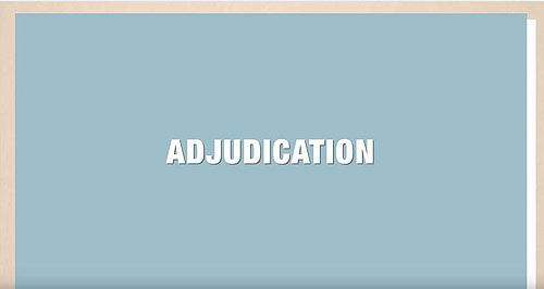 Click to play the video for The Adjudication Process