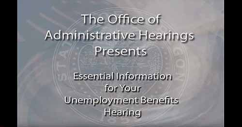 Click to play the video for Essential Information for Your Unemployment Insurance Benefits Hearing