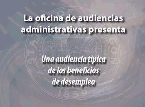 Click to play the video for Una Audiencia Típica de Beneficios del Desempleo