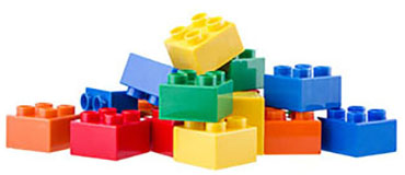 stacked legos