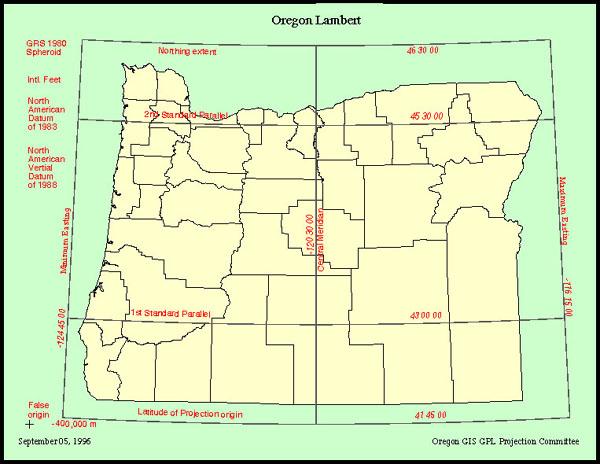 State Of Oregon Oregon Geospatial Enterprise Office Oregon - State of oregon map