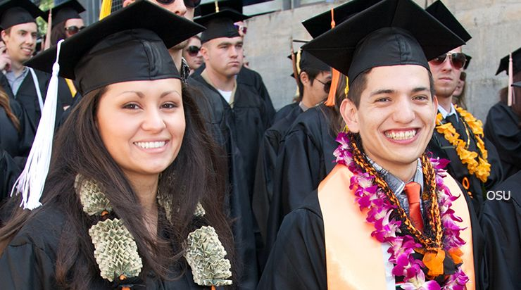 Student Opportunities section, Photo of graduates, Oregon State University
