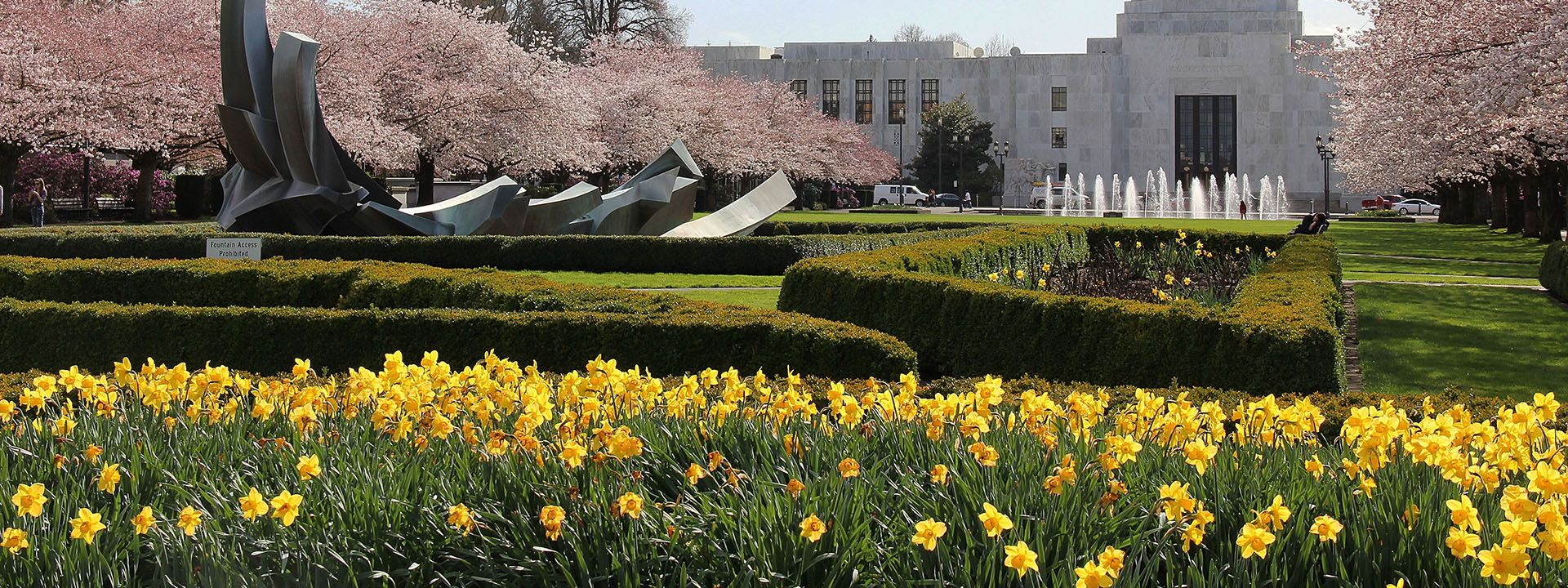 Oregon State Capital in Spring