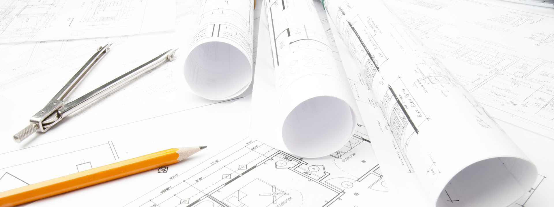 Image of construction planning drawings
