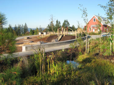 Image of landscape architecture project construction