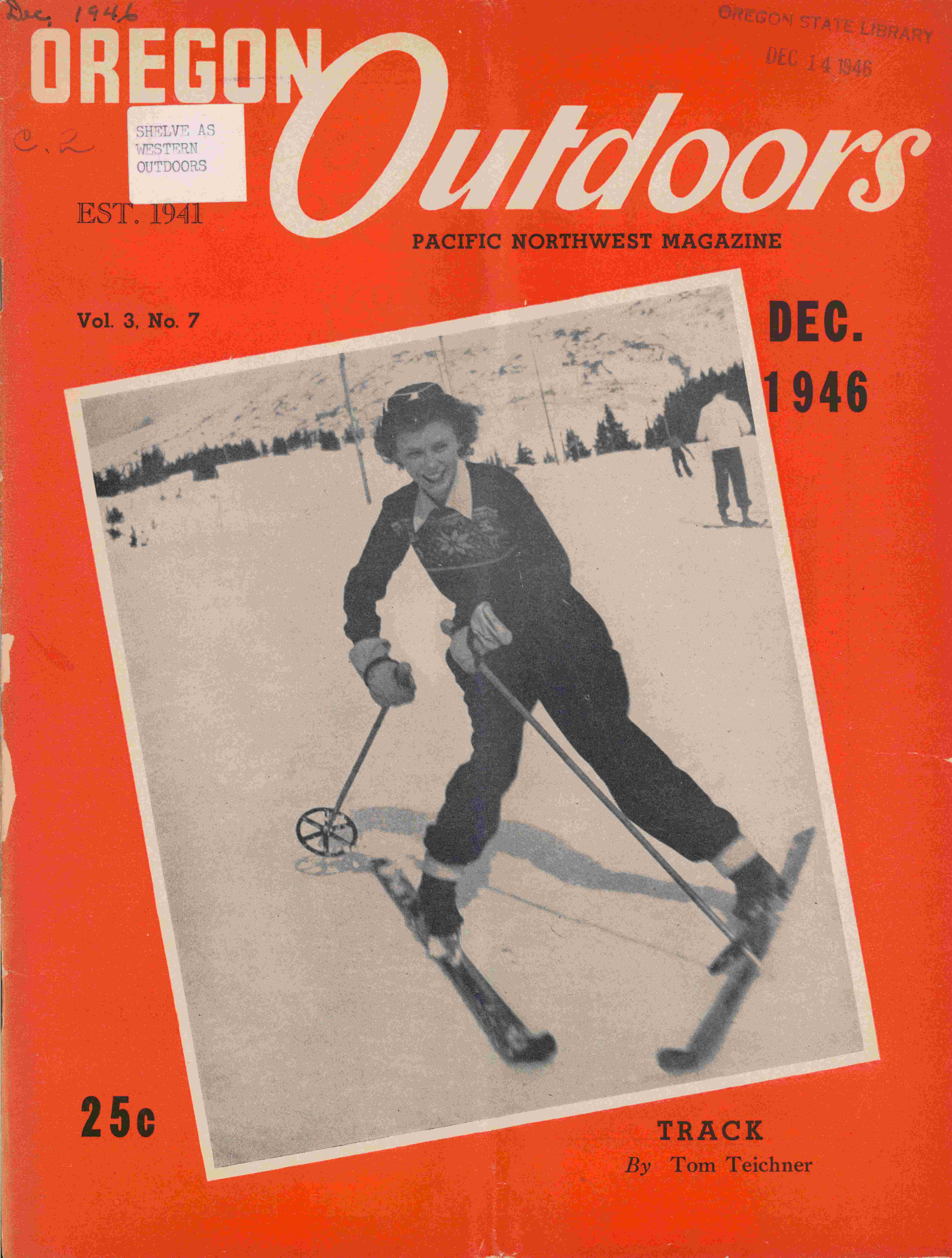 Cover of Oregon Outdoors magazine from Dec. 1946