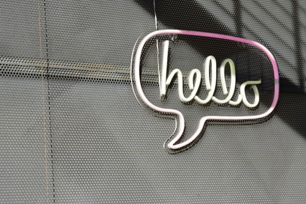 image of the word hello to represent getting started