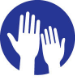 Icon for Civic Engagement (hands reaching)