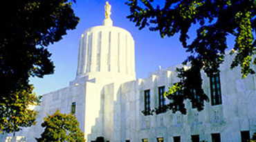 Captiol building in Salem, Oregon.
