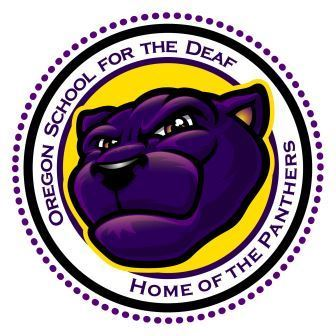 Oregon School for the Deaf Panthers logo
