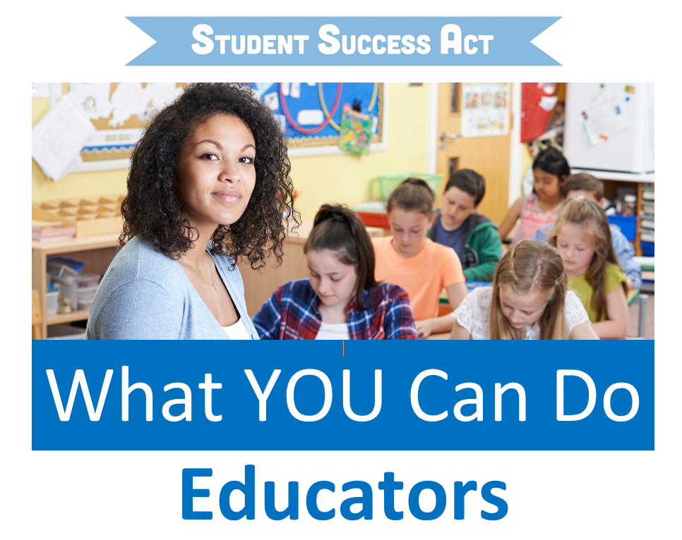 What You Can Do: Educators