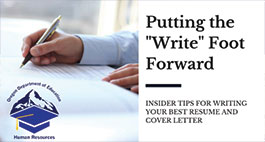 "Putting the ""Write"" Foot Forward"