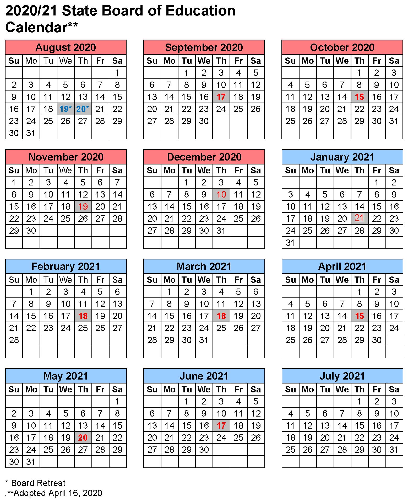 Board Of Education Calendar 2021 Oregon Department of Education : State Board Meetings : State