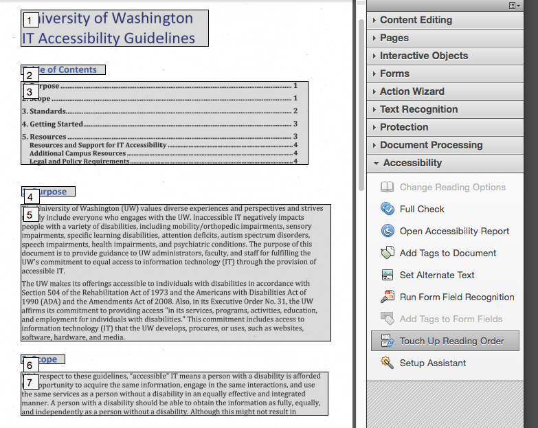 Oregon Department of Education : Ensuring Proper PDF Tab
