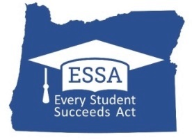 The ESSA logo featuring a graduation cap on an outline of the State of Oregon