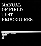 the cover of the Manual of Field Test Procedures, white text on a black background