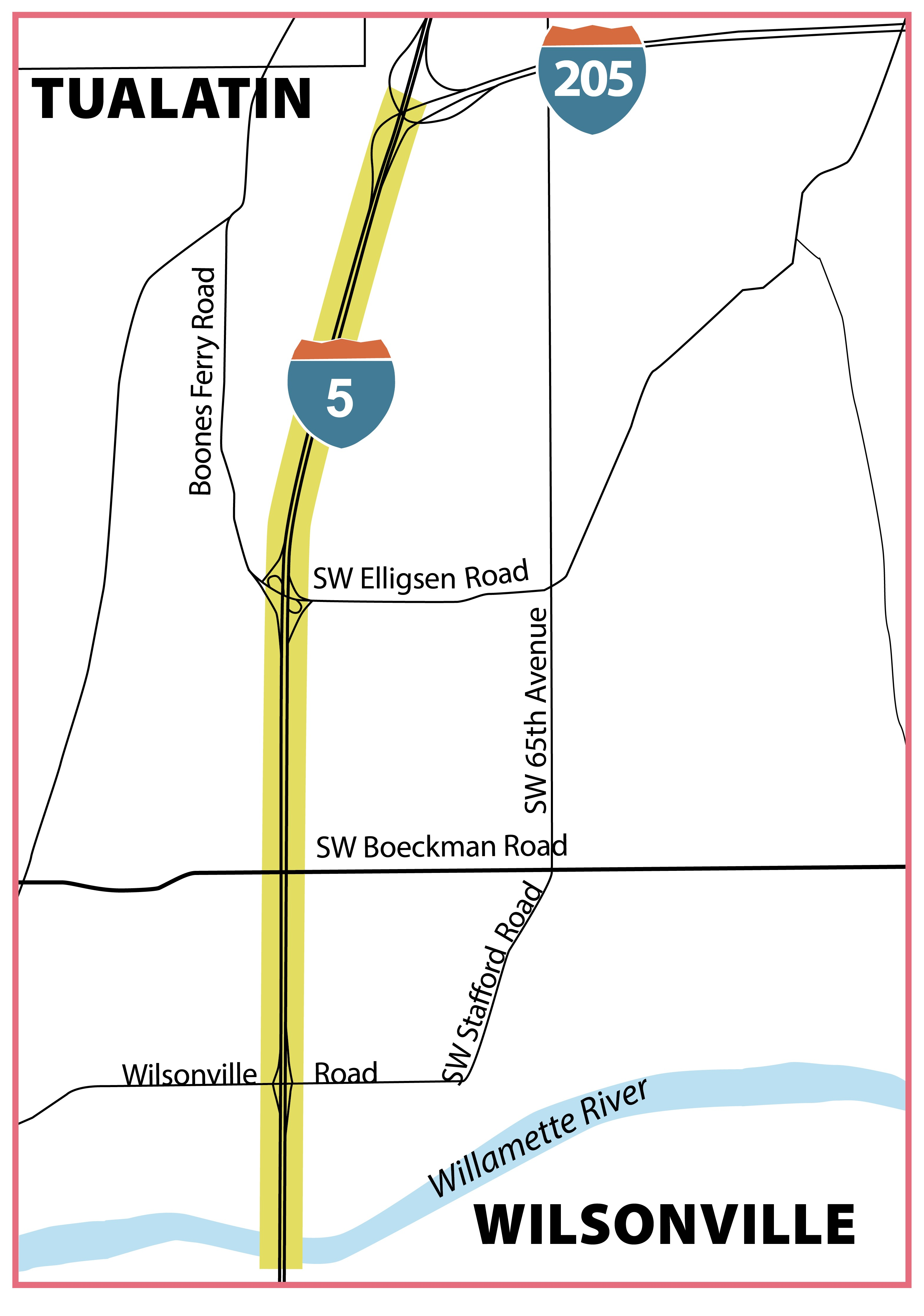 The project limits are from I-205 to Wilsonville.