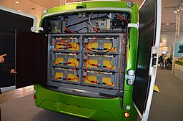 Electric bus battery compartment