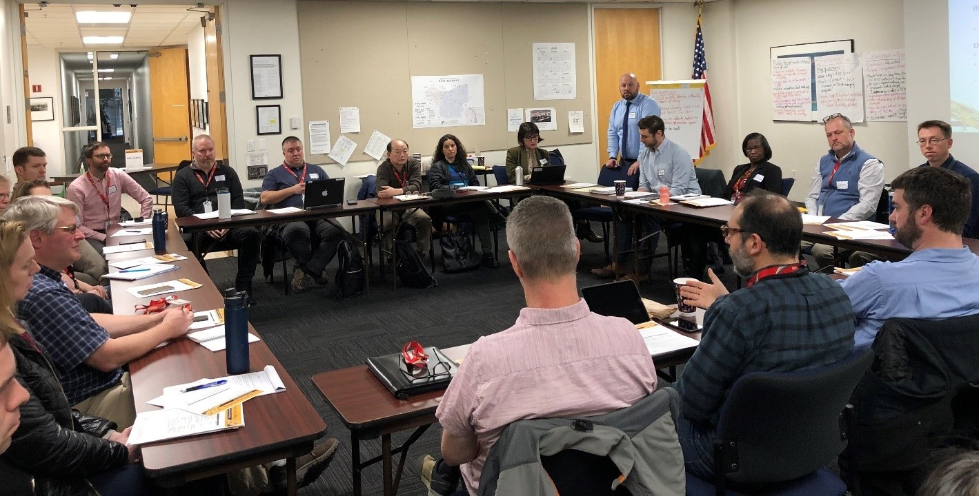 Transportation experts meet at a kick-off workshop in February 2020. They will inform the I-205 and I-5 Toll Projects.