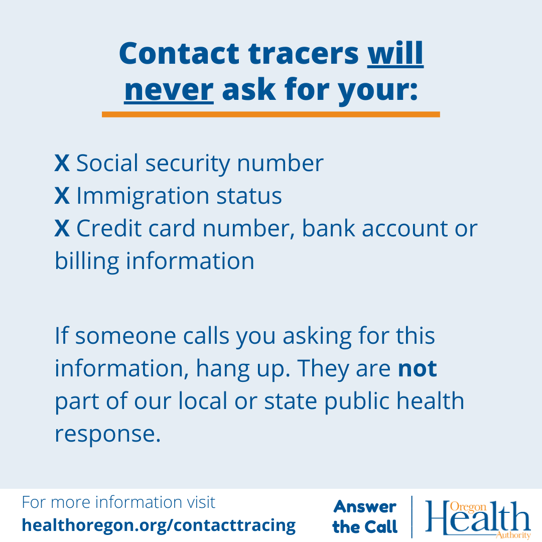 contact tracers will never ask you
