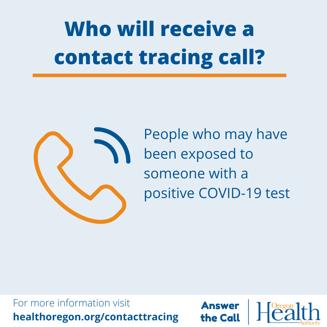 Who will receive a contact tracing call