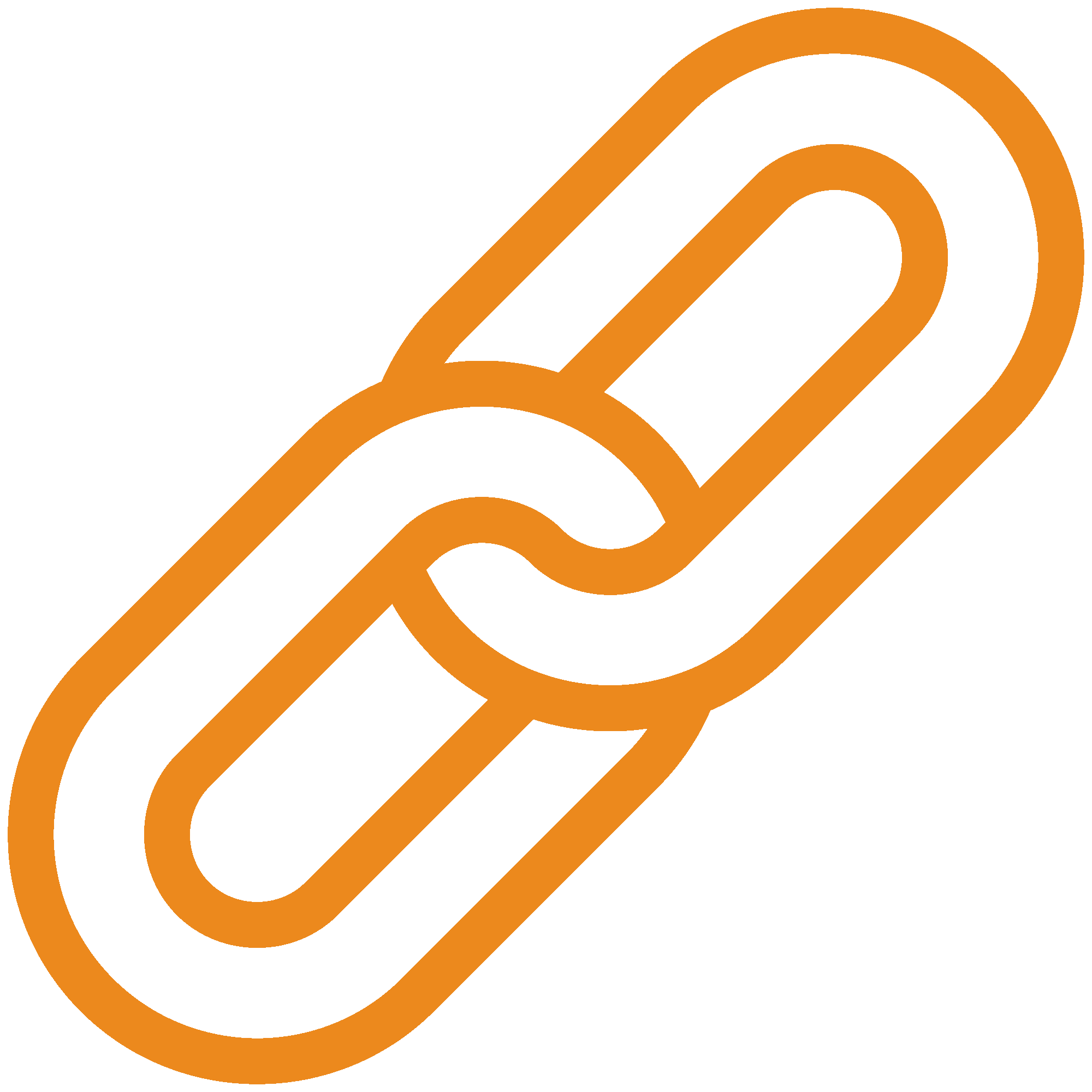 Two pieces of linked chain