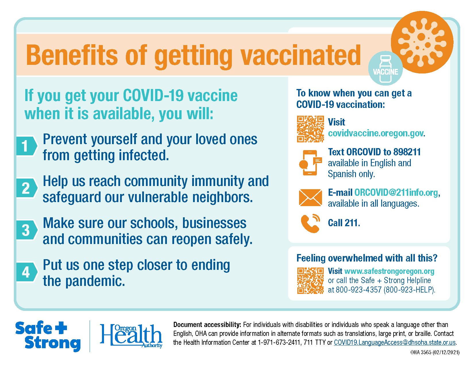 Benefits of getting vaccinated