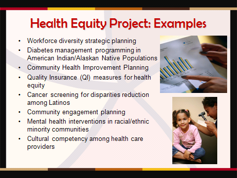 Health Equity Project examples