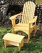 chair, natural stain