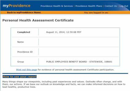 Oregon Health Authority : Health Assessment Certificates of