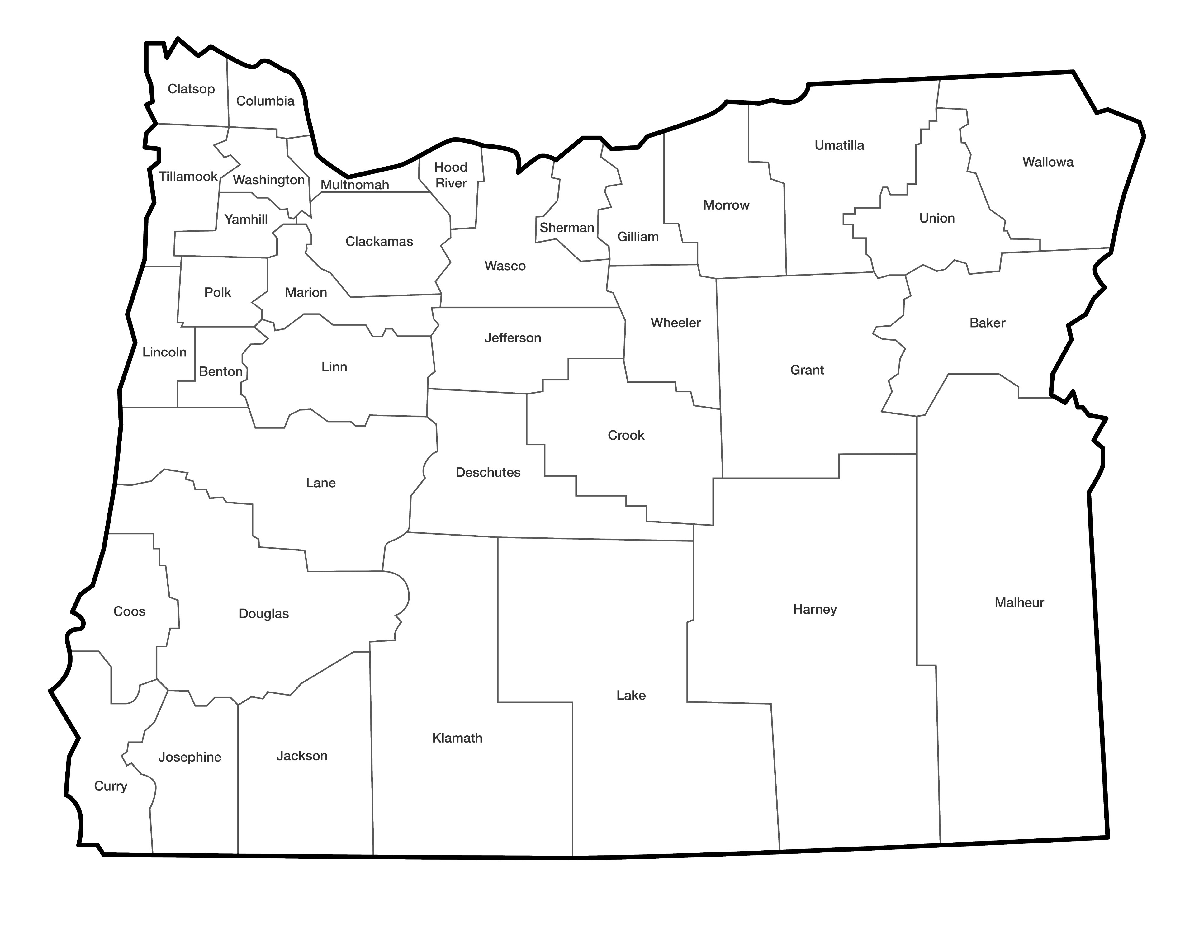 Oregon health authority deaths and perinatal deaths data map of oregon counties xflitez Images