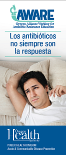 Antibiotics are not always the answer, adult version, Spanish cover