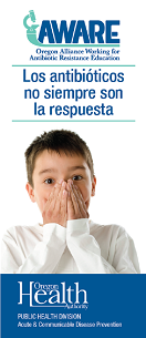 antibiotics are not always the answer, parent version, Spanish cover