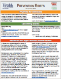 Newsletter cover: Prevention Briefs
