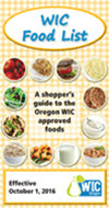 Oregon WIC Food List cover - English