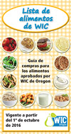 Oregon WIC Food List cover - Spanish