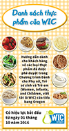 Oregon WIC Food List cover - Vietnamese