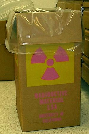 Image of radioactive waste disposal container