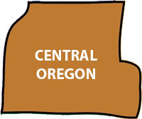 map of central Oregon