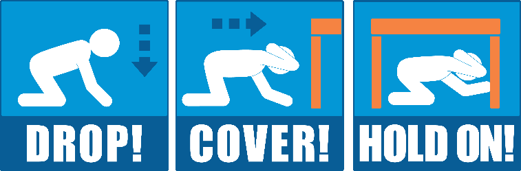 drop, cover, hold during an earthquake