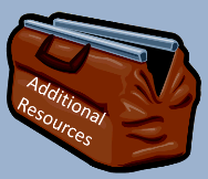 Image of a tool bag labelled additional resources.