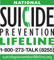 Suicide Prevention Lifeline logo 1-800-273-8255