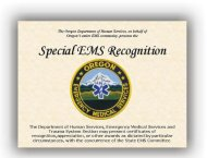 Special EMS Recognition Award