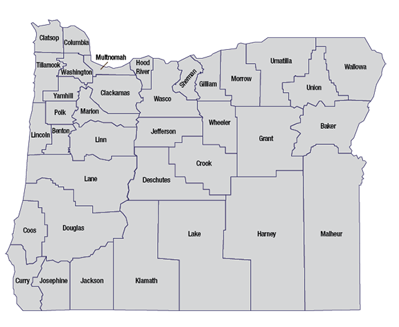 Oregon counties