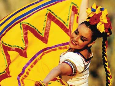 A dancer at the Fiesta Mexicana in Woodburn