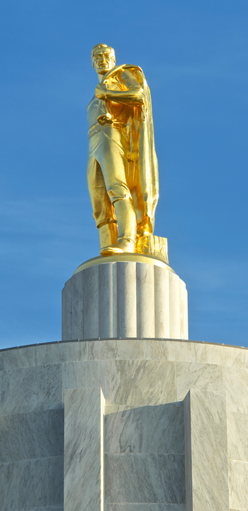 statue on state capitol building