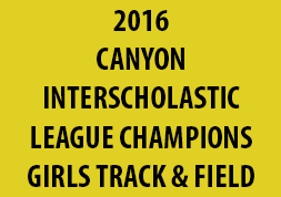 2016 Canyon Interscholastic League Champions Girls Track & Field