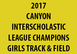 2017 Canyon Interscholastic League Champions Girls Track & Field