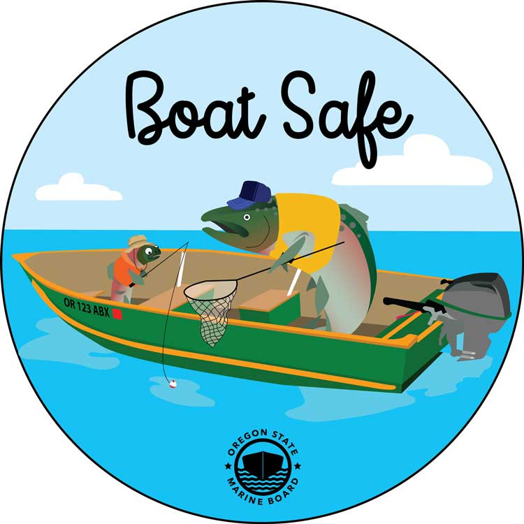 Boat Safe Fish Sticker