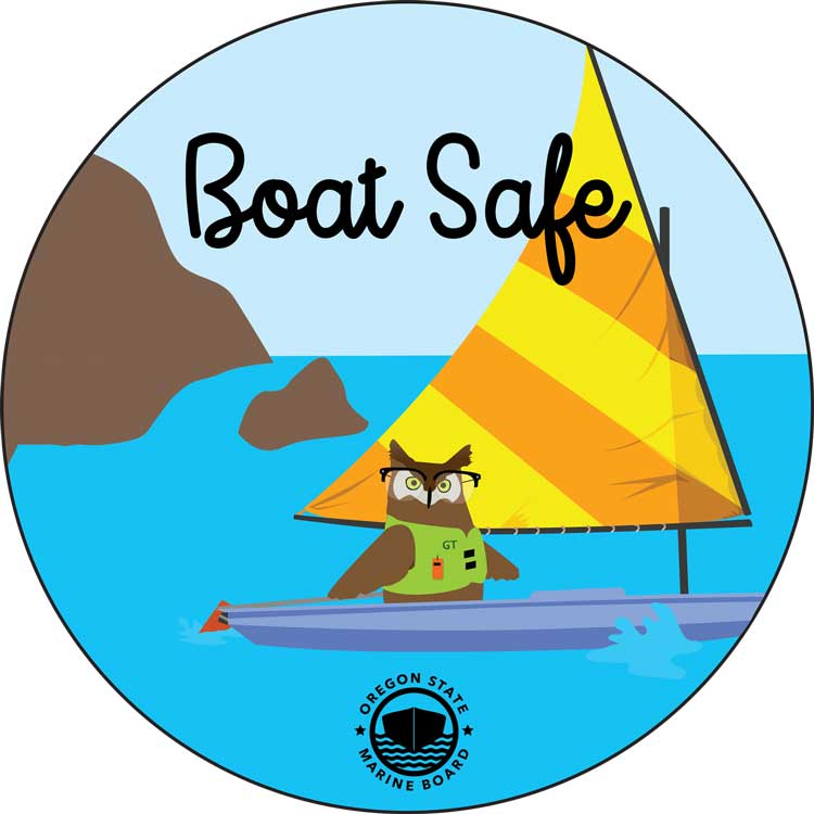 Boat Safe Owl Sticker